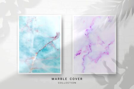 Marble Texture, Cover Premium Set of Vector Patterns Collection, Abstract Background Template, Suitable for Wedding and Greeting Invitation Card Imagens - 127649942