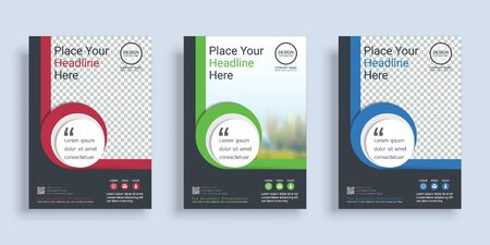 Poster cover book design template with space for photo background, Vector template in A4 layout.
