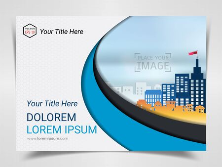 Print Advertising Ready Template, A4 Size Design for Company Marketing Presentation Layout and Covers Design with Space for Your Photo Background, Use for Flyer, Leaflet, Brochure, Catalog Maxazine. Imagens - 128695275