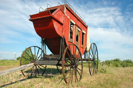Early American Stagecoach Imagens