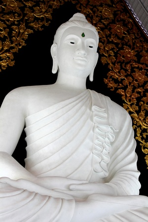 graceful white statue of buddha in loei province of thailand. Stock Photo - 11200399
