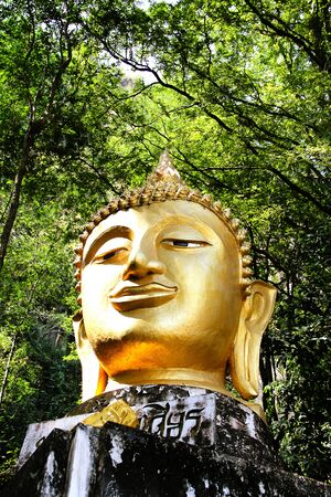 head of buddha statue in loei,thailand