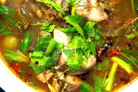 photo of  delicious thai food style  tom-yum fish