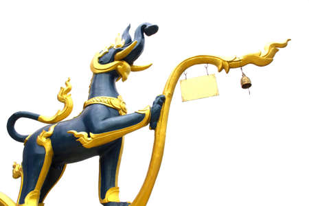 Animal Sculptures in Thai Literature at Temple Stock Photo - 12909455