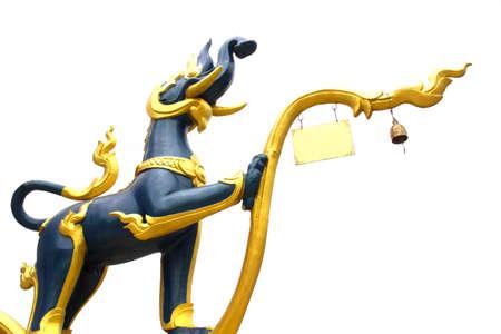 Animal Sculptures in Thai Literature at Temple Stock Photo - 12909455