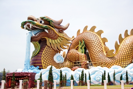 symbolism: big dragon is symbolism and Chinese style Editorial