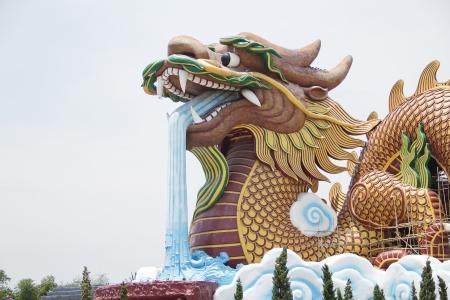 symbolism: big dragon is symbolism and China style Stock Photo