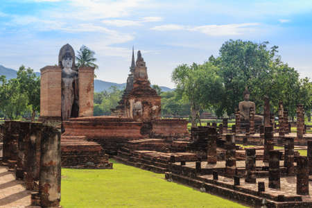 Buddha Statue in Wat Mahathat Temple in Sukhothai Historical park , Thailand Stock Photo - 16929471