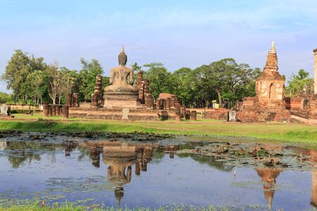 Buddha Statue in Wat Mahathat Temple in Sukhothai Historical park , Thailand Stock Photo - 16929493