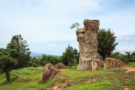 monolithic: Detail of Monolithic -chaiyaphum province,Thailand Stock Photo