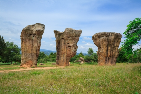 monolithic: Detail of Monolithic -chaiyaphum province,Thailand Stock Photo