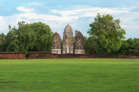 Sukhothai historical park, the old town of Thailand in 800 year ago Stock Photo - 16937178