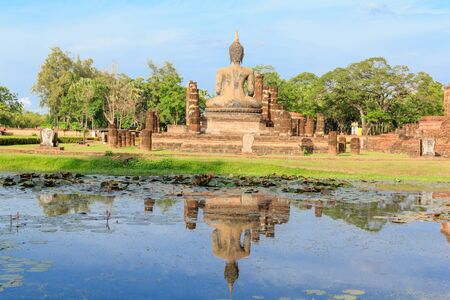 Buddha Statue at  Temple in Sukhothai Historical park , Thailand photo