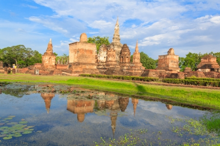 Sukhothai historical park, the old town of Thailand in 800 year ago Stock Photo - 16992179