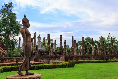 Sukhothai ruin old city country Thailand