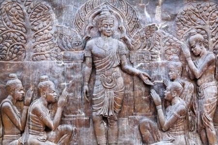 art on metal plate about King Ramkhamhaeng  history ,thailand Stock Photo - 17839092