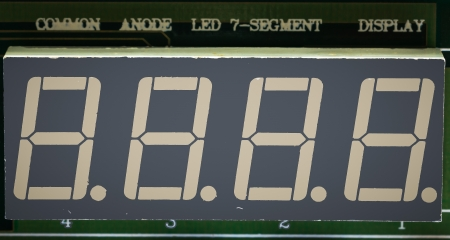 diode: seven segment LED light-emitting diode  on the circuit board