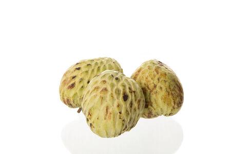 custard apple fruit: custard apple fruit on white background,Thai fruit.