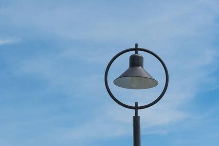 halogen lighting: street lantern with a modern design Stock Photo