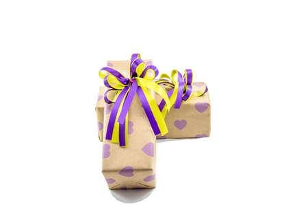 Gift box. Isolated on white background Stock Photo