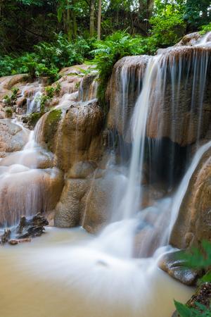 Beautiful Waterfall in the rainy season in Loei province, Thailand Stock Photo