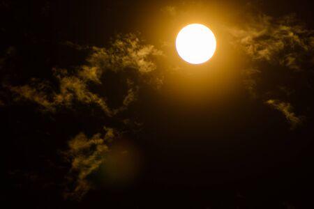 penumbra: Full Moon  on cloud and drak sky