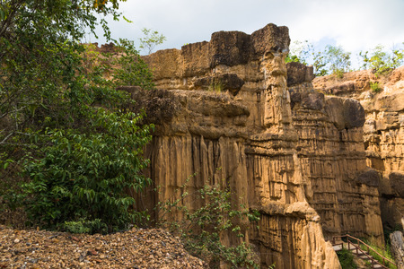 soil erosion: beautiful Nice soil erosion in forest park, Thailand