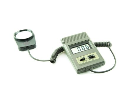 photometer to measure the light in the scene on white background