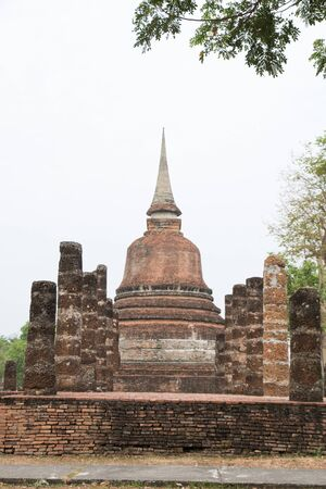 Buddha Statue at Temple in Sukhothai Historical park , Thailand