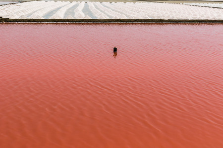 evaporating: Farm salt or salt with red water before evaporating salt.