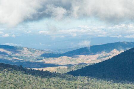 View of Phu Luang Wildlife Sanctuary  in Loei Province, Thailand Stock Photo