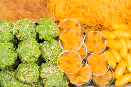 Thai sweets, or Khanom Thai, have unique, colorful appearance and distinct flavors. The art of Thai desserts have been passed down through the generations.