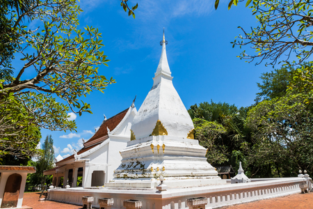 Phra That Si Song Rak with blue sky in Amphoe Dan Sai Loei,Thailand