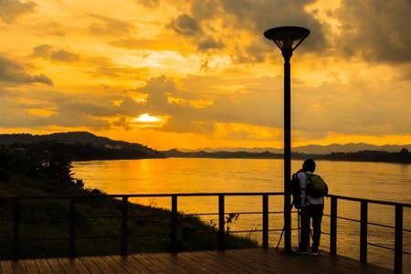 Natural Sunset Sunset. Bright Dramatic Sky And Dark Ground. Countryside Landscape Under Scenic Colorful Sky At Sunset Dawn Sunrise. Sun over Skyline. Warm Colours. Reklamní fotografie