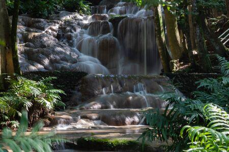 pheiyng-din waterfall or net Tara soil.  Nong Hin district  Loei, Thailand Фото со стока