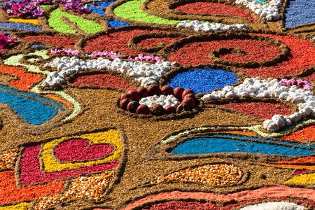 Decorative art background from agricultural products