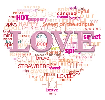 Love is mean this words, it s for design card   illustration   graphic and etc  Stock Vector - 17505548