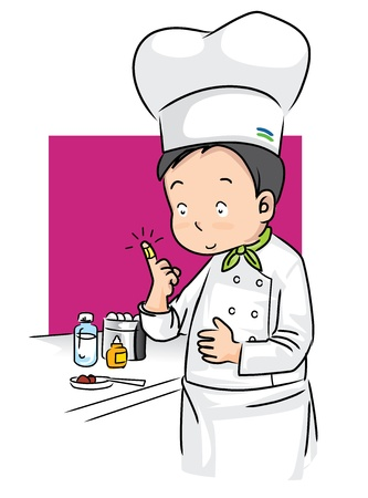 illustration present accident and first aid of chef in kitchen room Stock Vector - 17505527