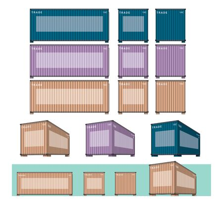 Vector illustrated EPS10 present container diagram  Illustration