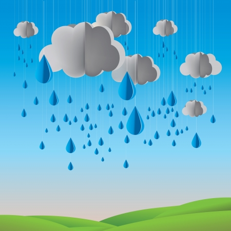 vector illustrated EPS10 present the rainy season Stock Vector - 17592165