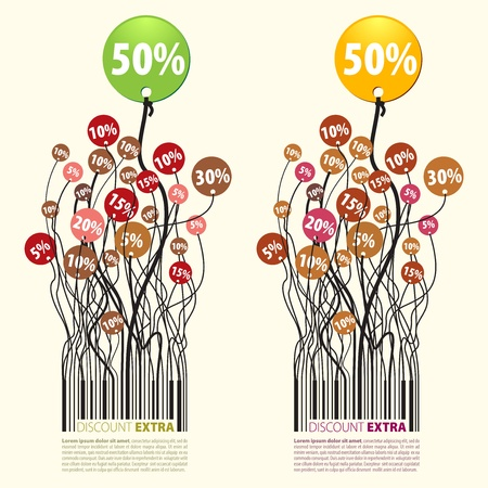 The vector illustration Promotion discount Extra 50% Available in RGB, this vector file may be downloaded for all kinds of professional uses. Illustration