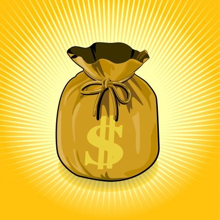 Vector bags of money show a success  Illusztráció