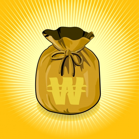 windfall: Vector bags of money show a success  Illustration