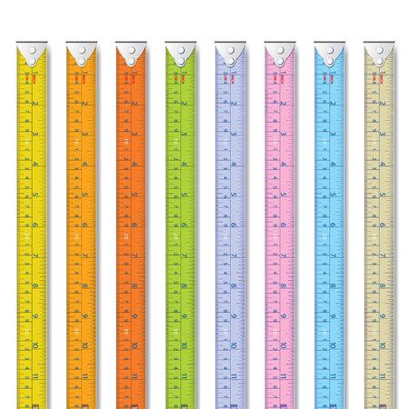 cinta metrica: La cinta métrica de diagrama o ilustración y etc Vectores