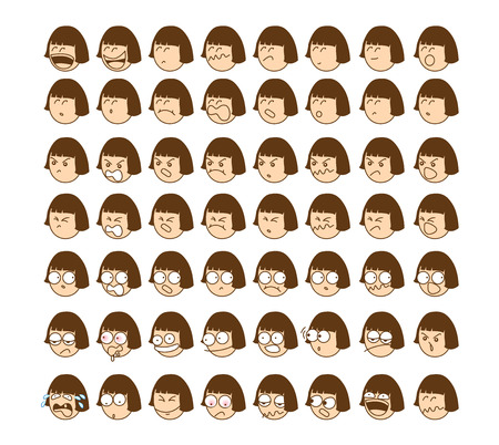This presentation of another emoticon of young girl mood. Illustration