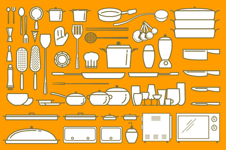 Vector illustrator for present cooking element