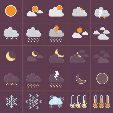 Minimal Flat icon for present weather