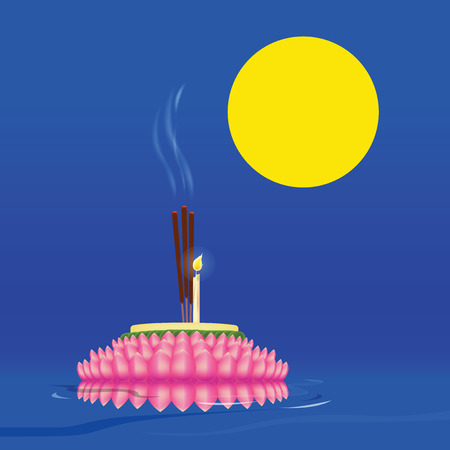 In THAILAND has Loy Kratong festival on the night full moon in mid-November of every year. For to apologize and worship the Goddess of Water. Because They believe that use of water and use to drink, Including the dumping of sewage into the river, and beli