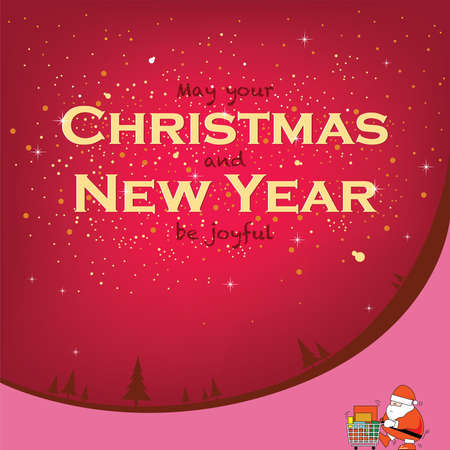 placard: Christmas and New year Celebration placard for element design. Illustration