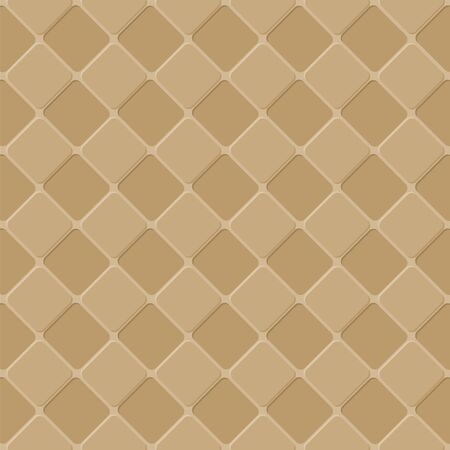 Design big mosaic pattern for seamless in brown tone.